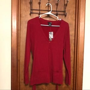 East 5th Cardigan Classic Red Medium